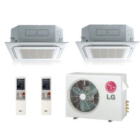 LG LMU18CHV  LMCN125HV (TWO) Dual Zone Ceiling Cassette Mini Split