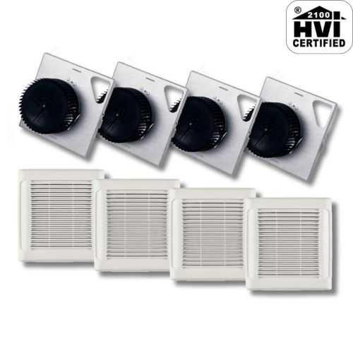 NuTone AEN80F InVent Series 80 CFM 0.8 Sones HVI Certified Finish Pack with Grille (Package of 4)
